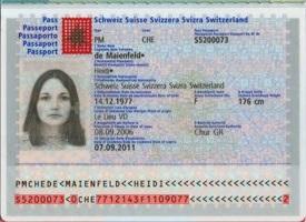 Muster Personalausweis Schweiz