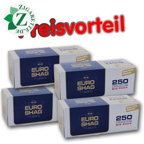 4 x Euro Shag Filterhülsen, 250er