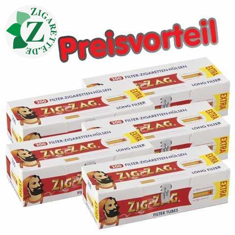 5 x Zig Zag Extra Hülsen, 200er
