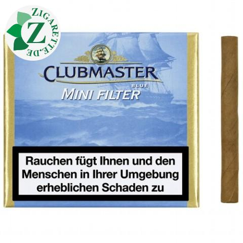 Clubmaster Mini Filter Blue Zigarillos, 20er