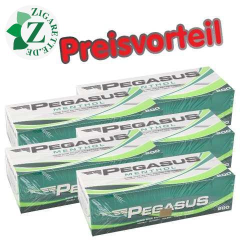 5 x Pegasus Menthol Filterhülsen, 200er