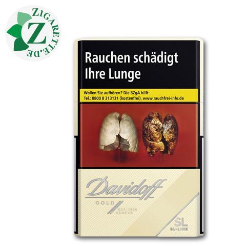 Davidoff Gold SL-Line 7,30 € Zigaretten