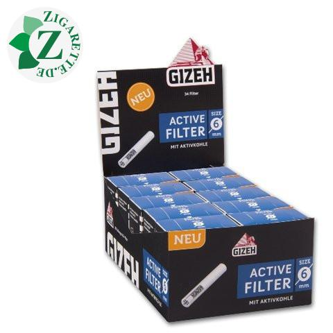 Gizeh Black Active Filter mit Aktivkohle