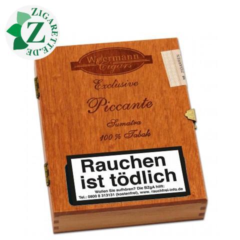 Woermann Exclusive Piccante Sumatra Panatelas Zigarillos, 16er