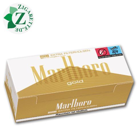 Marlboro Extra Gold Hülsen, 250er