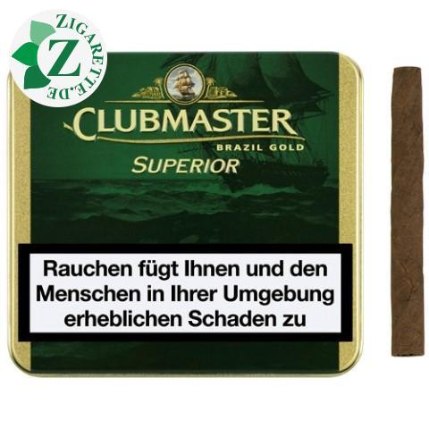 Clubmaster Superior Brasil Gold Zigarillos, 20er