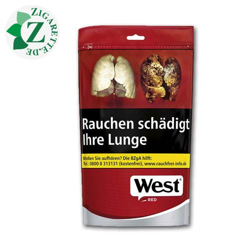 West Red Volume Tobacco Zip-Beutel, 134g
