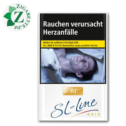R1 Slim Line Gold 7,50 € Zigaretten