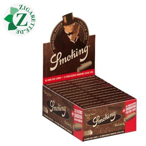 Smoking King Size Brown + Tips